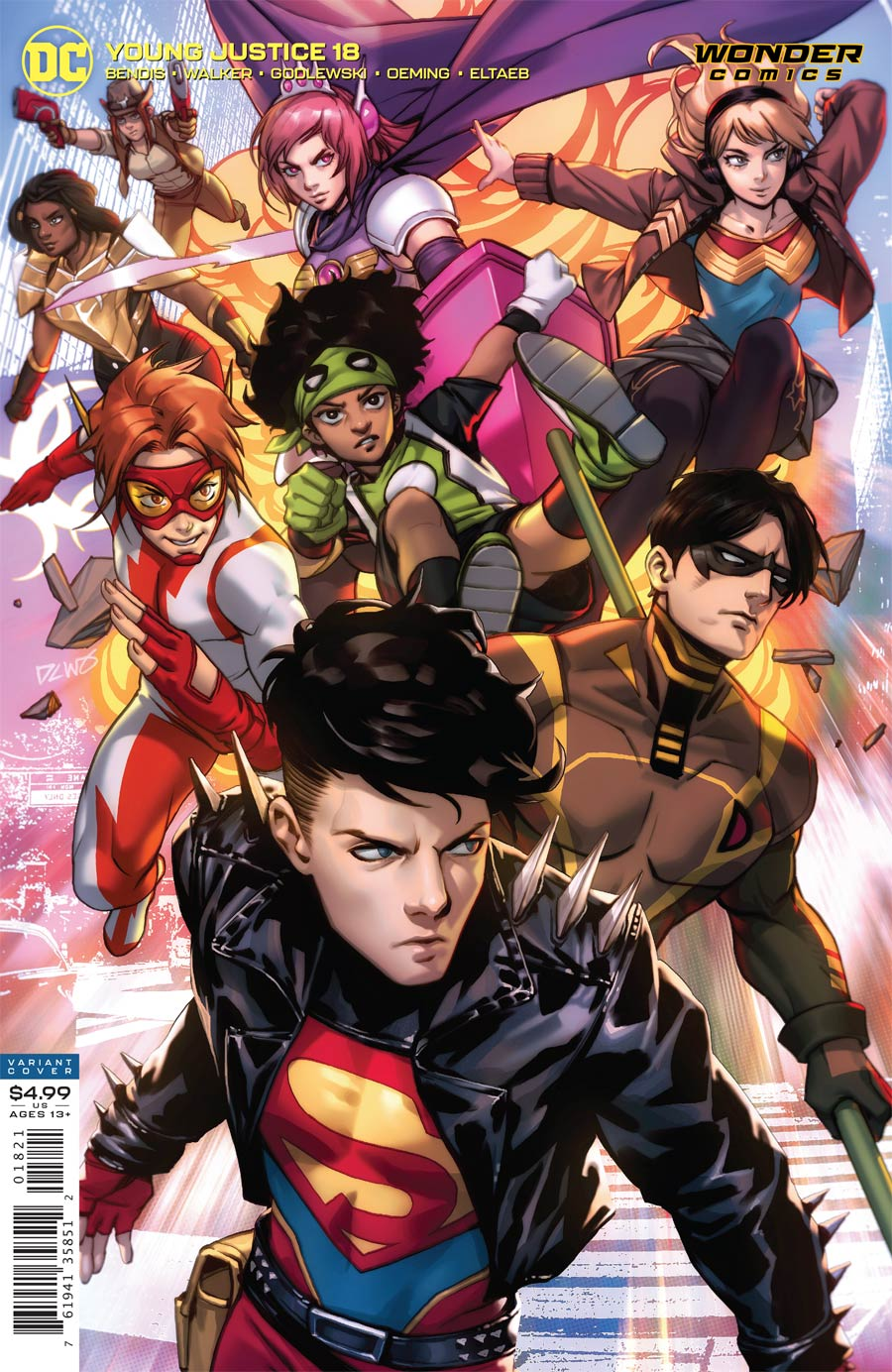 Young Justice Vol 3 #18 Cover B Variant Derrick Chew Card Stock Cover