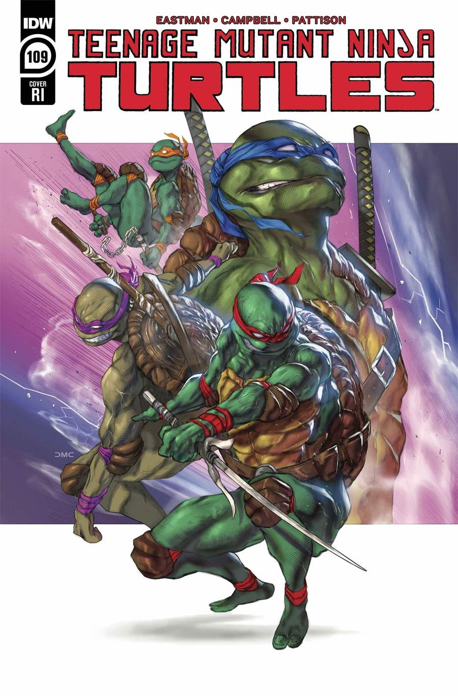 Teenage Mutant Ninja Turtles Vol 5 #109 Cover C Incentive Daniel Chavez Variant Cover