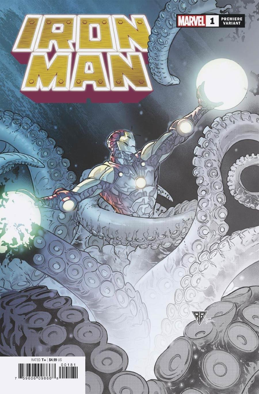 Iron Man Vol 6 #1 Cover K Incentive RB Silva Premiere Variant Cover