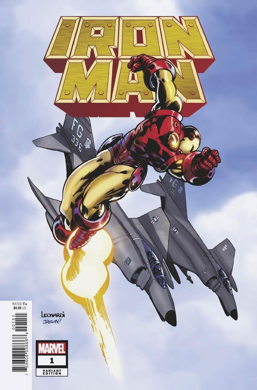 Iron Man Vol 6 #1 Cover I Incentive Rick Leonardi Hidden Gem Variant Cover