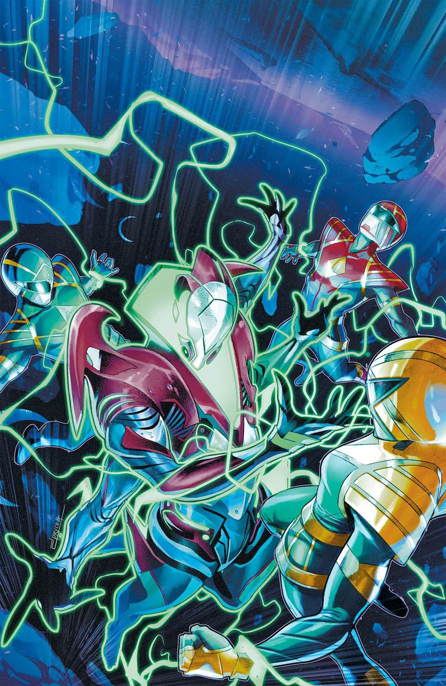 Mighty Morphin Power Rangers (BOOM Studios) #54 Cover D Incentive Jamal Campbell Variant Cover