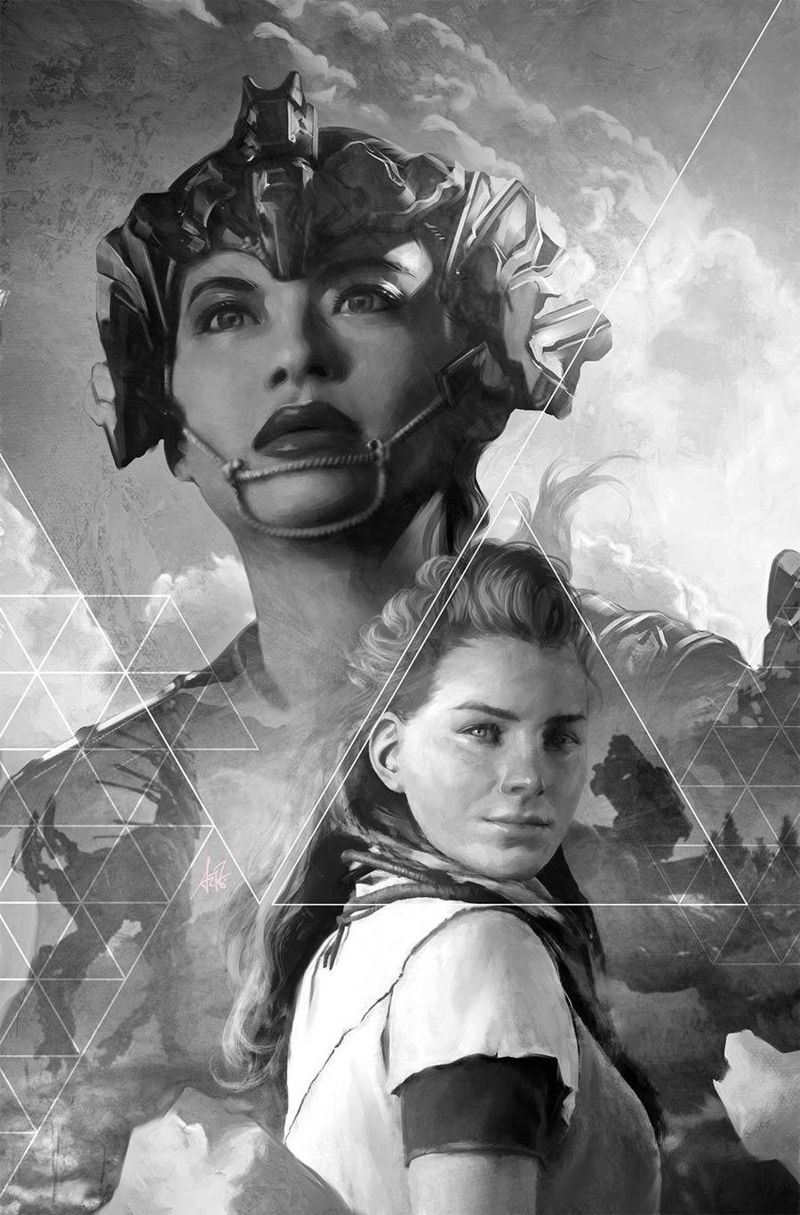 Horizon Zero Dawn #2 Cover E Incentive Stanley Artgerm Lau Black & White Virgin Variant Cover