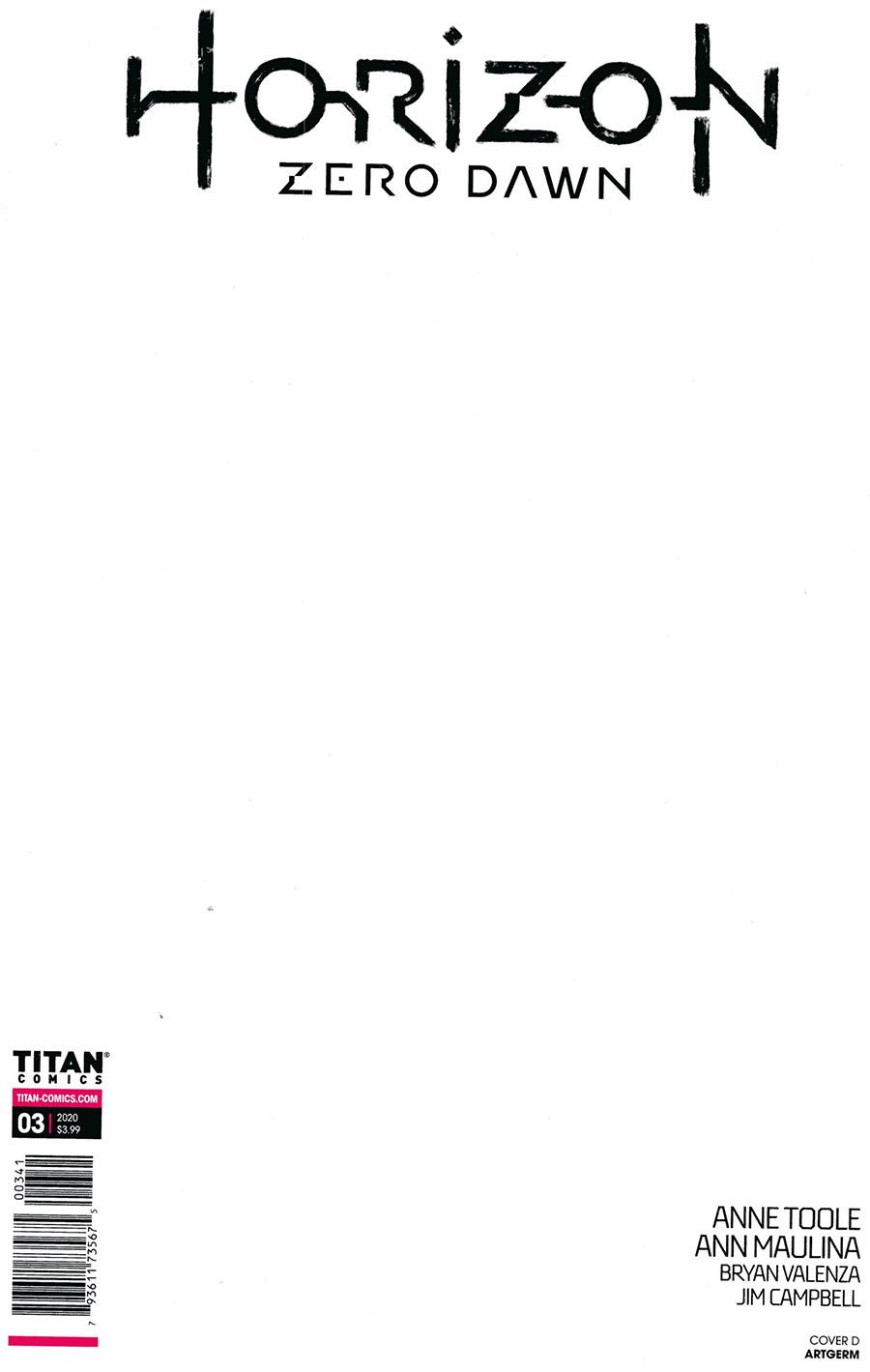 Horizon Zero Dawn #3 Cover D Incentive Stanley Artgerm Lau Black & White Virgin Variant Cover