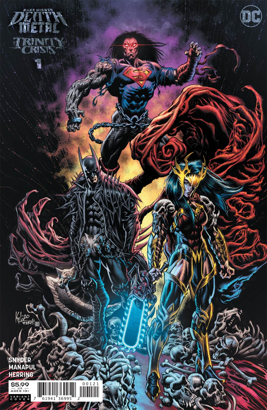 Dark Nights Death Metal Trinity Crisis One Shot Cover B Incentive Kyle Hotz Variant Cover