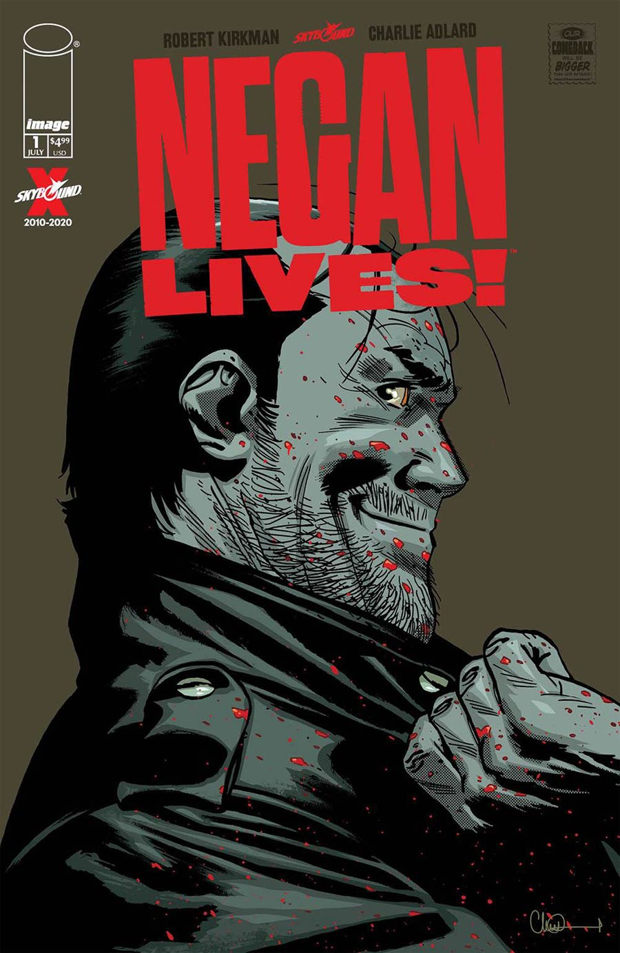 Negan Lives #1 Cover A 1st Ptg Regular Charlie Adlard & Dave McCaig Cover