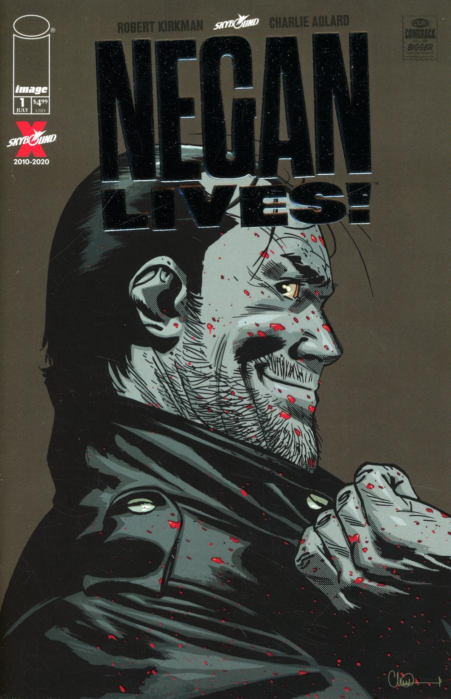 Negan Lives #1 Cover B Incentive Silver Variant Cover