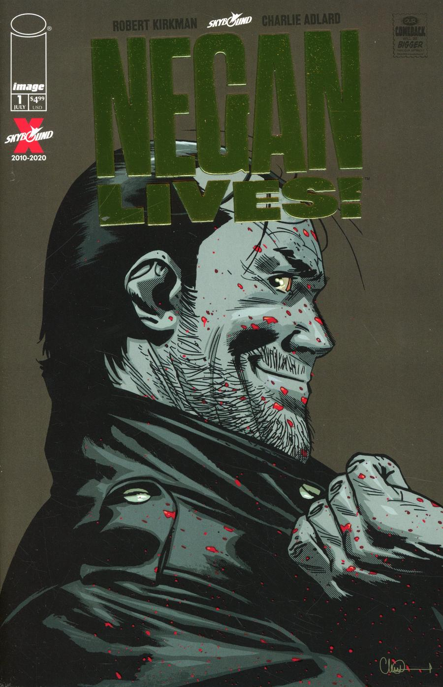 Negan Lives #1 Cover C Incentive Gold Variant Cover