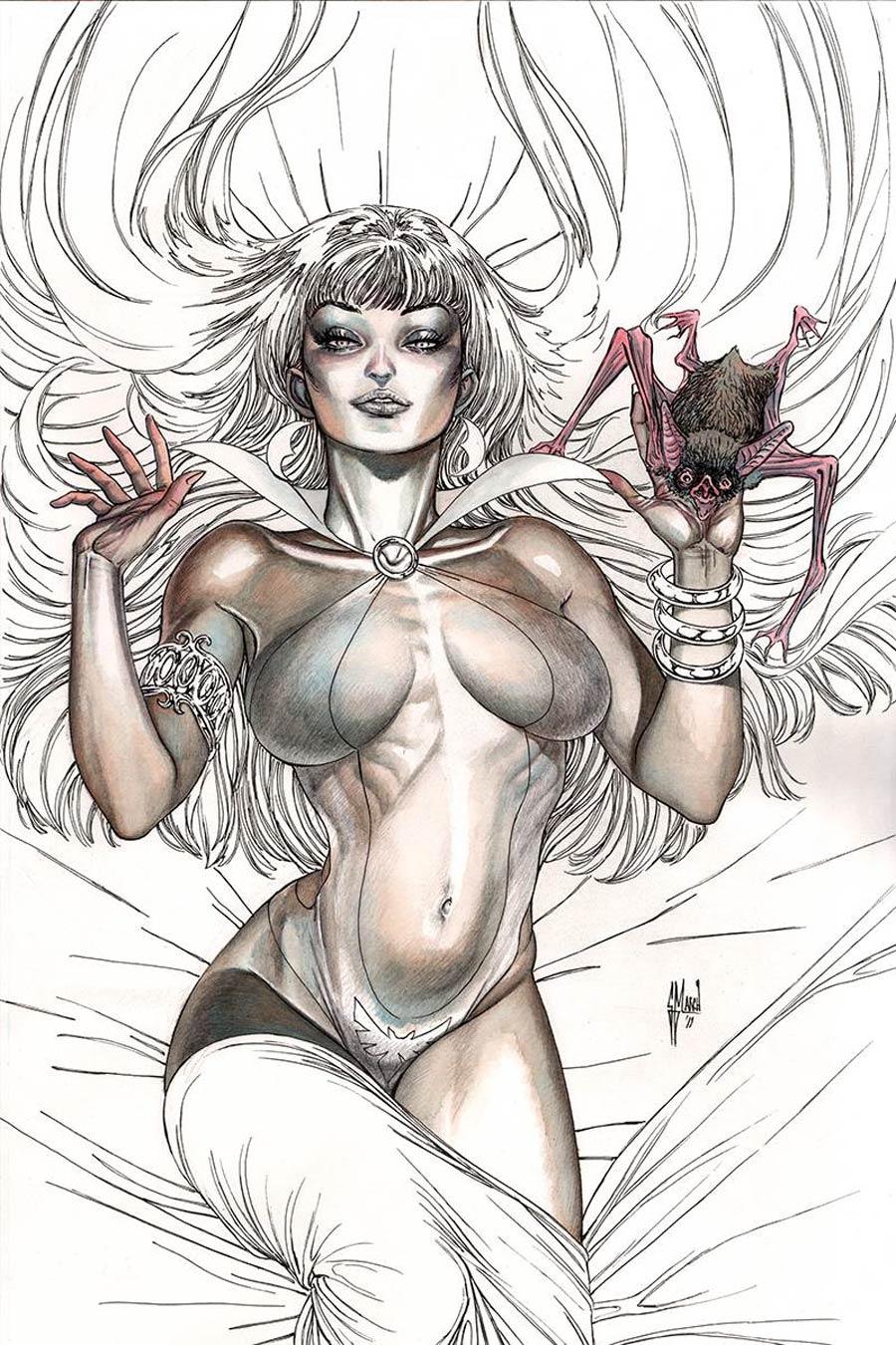 Vampirella Vol 8 #10 Cover R Incentive Guillem March Black & White Virgin Cover