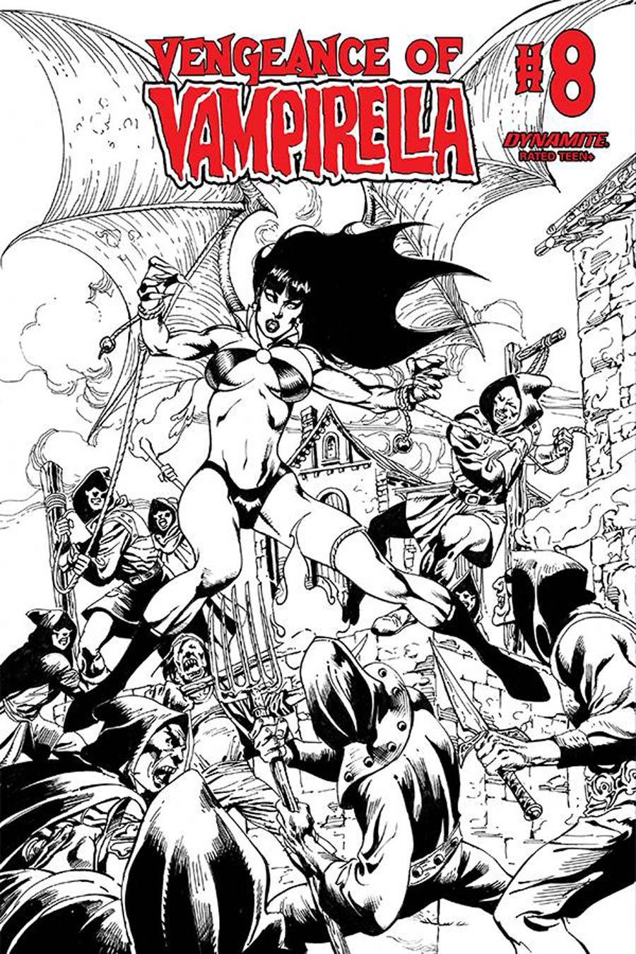 Vengeance Of Vampirella Vol 2 #8 Cover G Variant Roberto Castro Black & White Cover