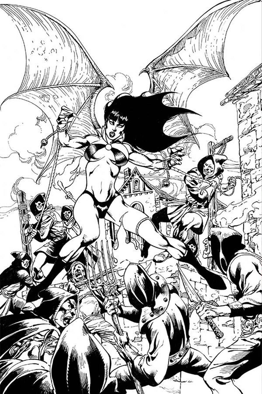 Vengeance Of Vampirella Vol 2 #8 Cover H Variant Roberto Castro Black & White Virgin Cover