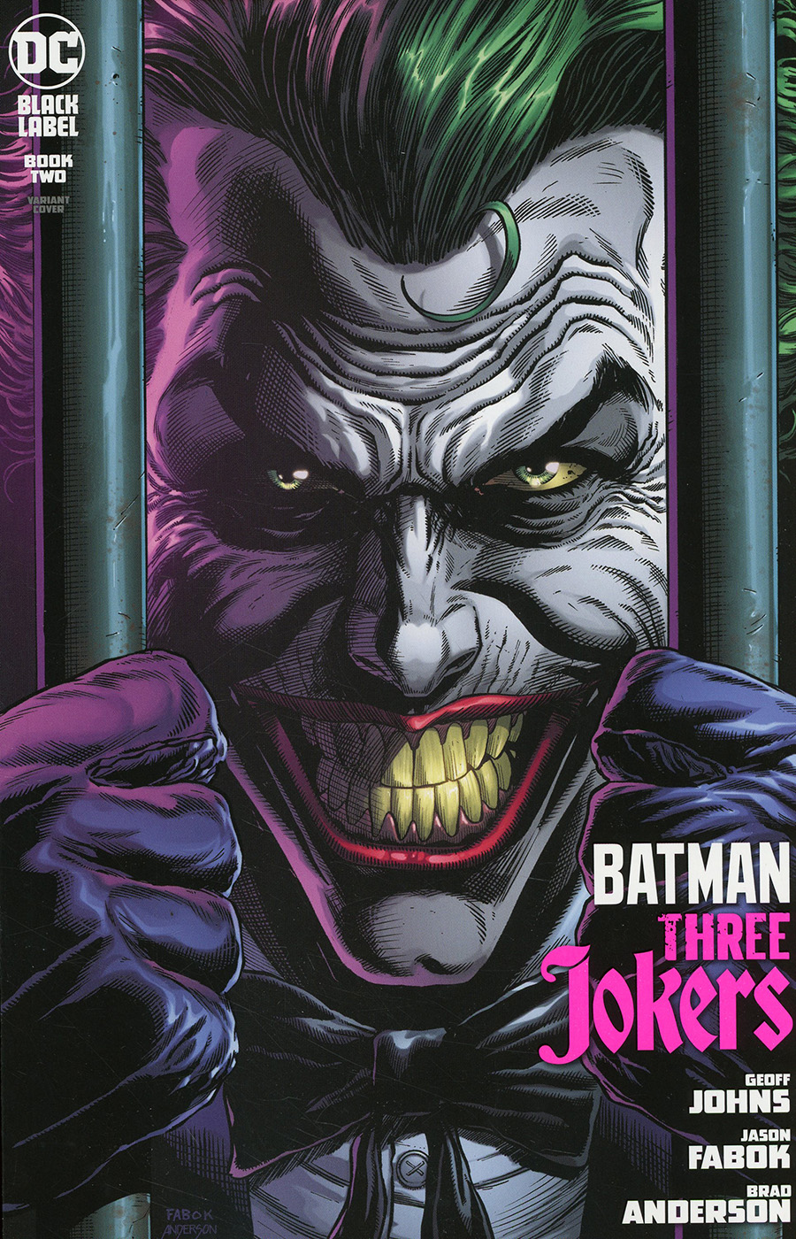 Batman Three Jokers #2 Premium Variant D Jason Fabok Behind Bars Cover