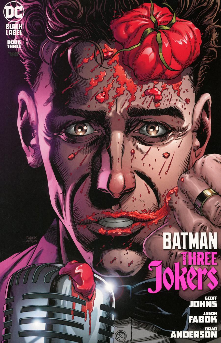 Batman Three Jokers #3 Premium Variant H Jason Fabok Stand-Up Comedian Cover
