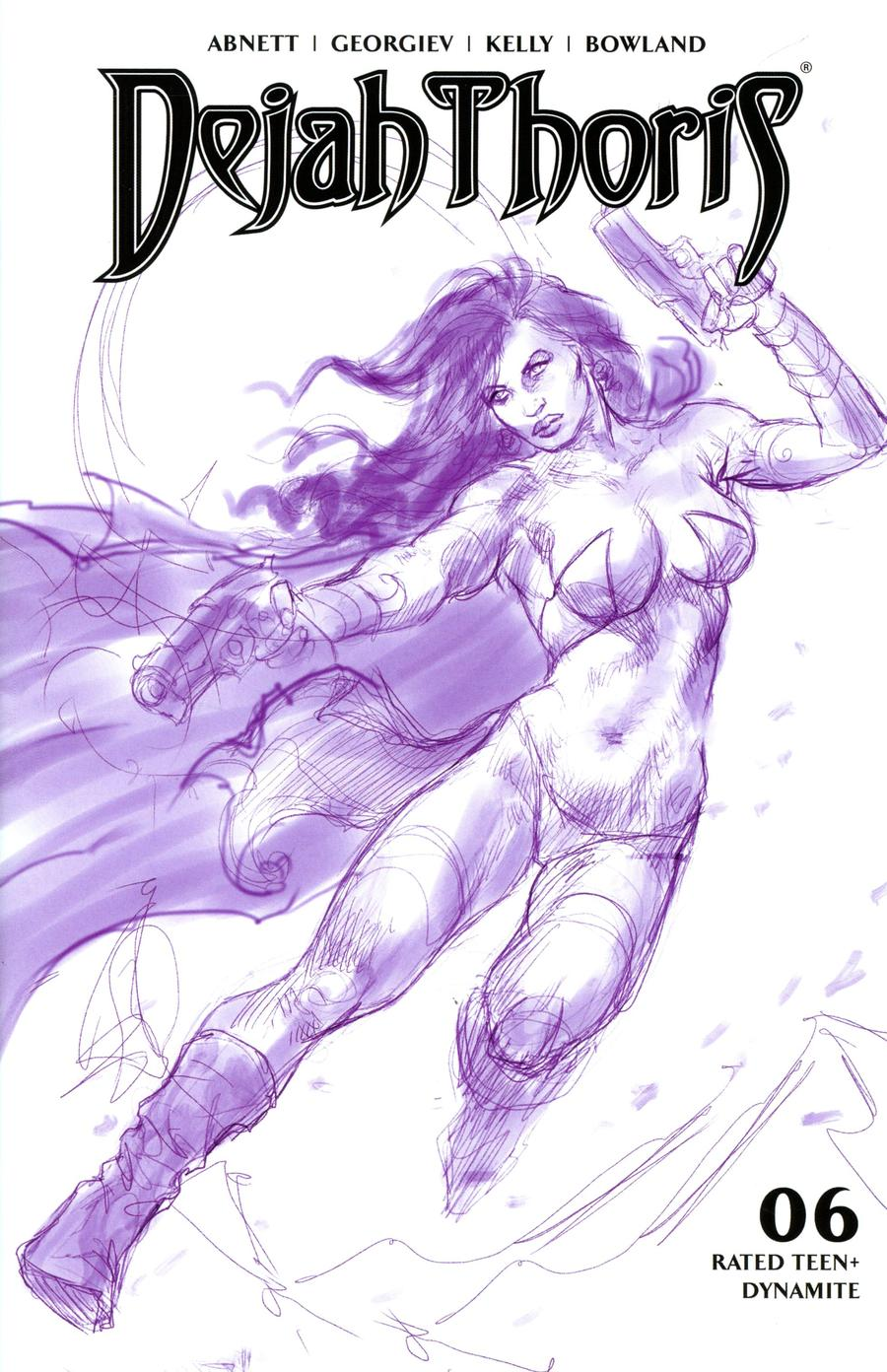 Dejah Thoris Vol 3 #6 Cover M Incentive Lucio Parrillo Tint Virgin Purple Cover