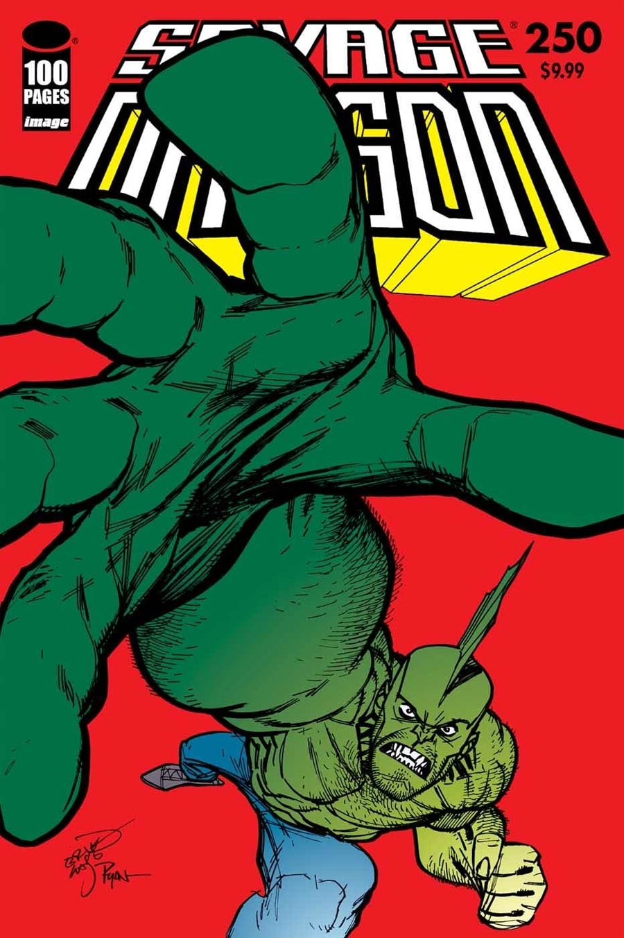 Savage Dragon Vol 2 #250 Cover G Variant Erik Larsen & Ryan Ottley Cover