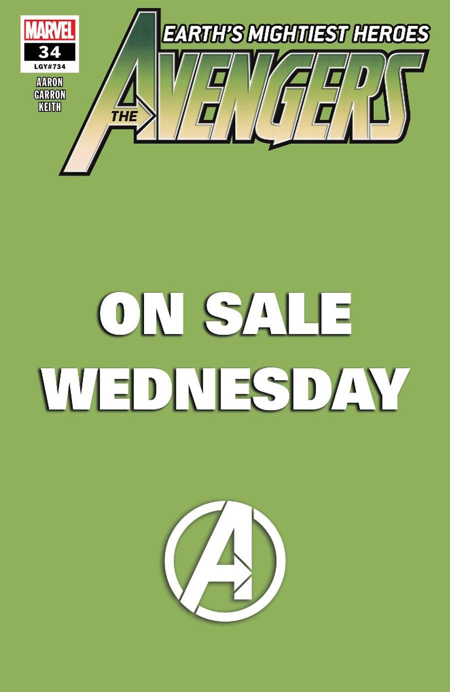 Avengers Vol 7 #34 Cover B Variant Marvel Wednesday Cover