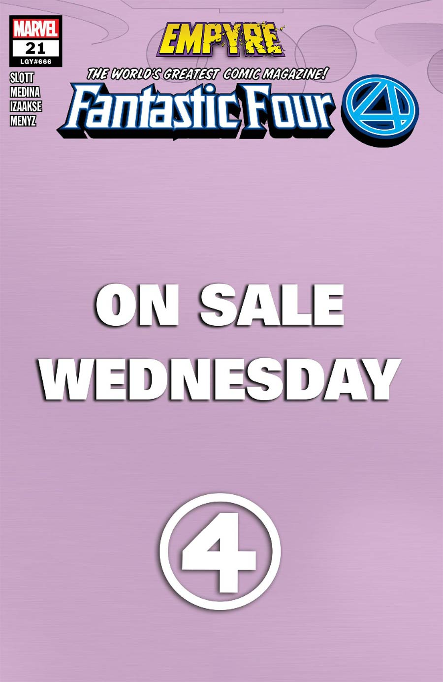 Fantastic Four Vol 6 #21 Cover E Variant Marvel Wednesday Cover (Empyre Tie-In)