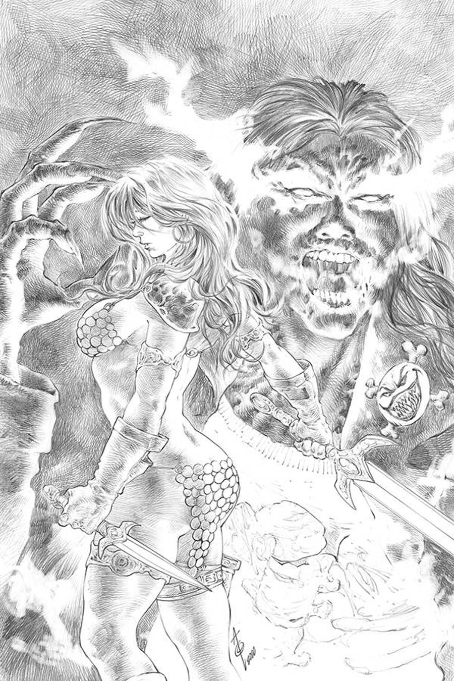 Red Sonja Age Of Chaos #5 Cover J Incentive Alan Quah Black & White Virgin Cover