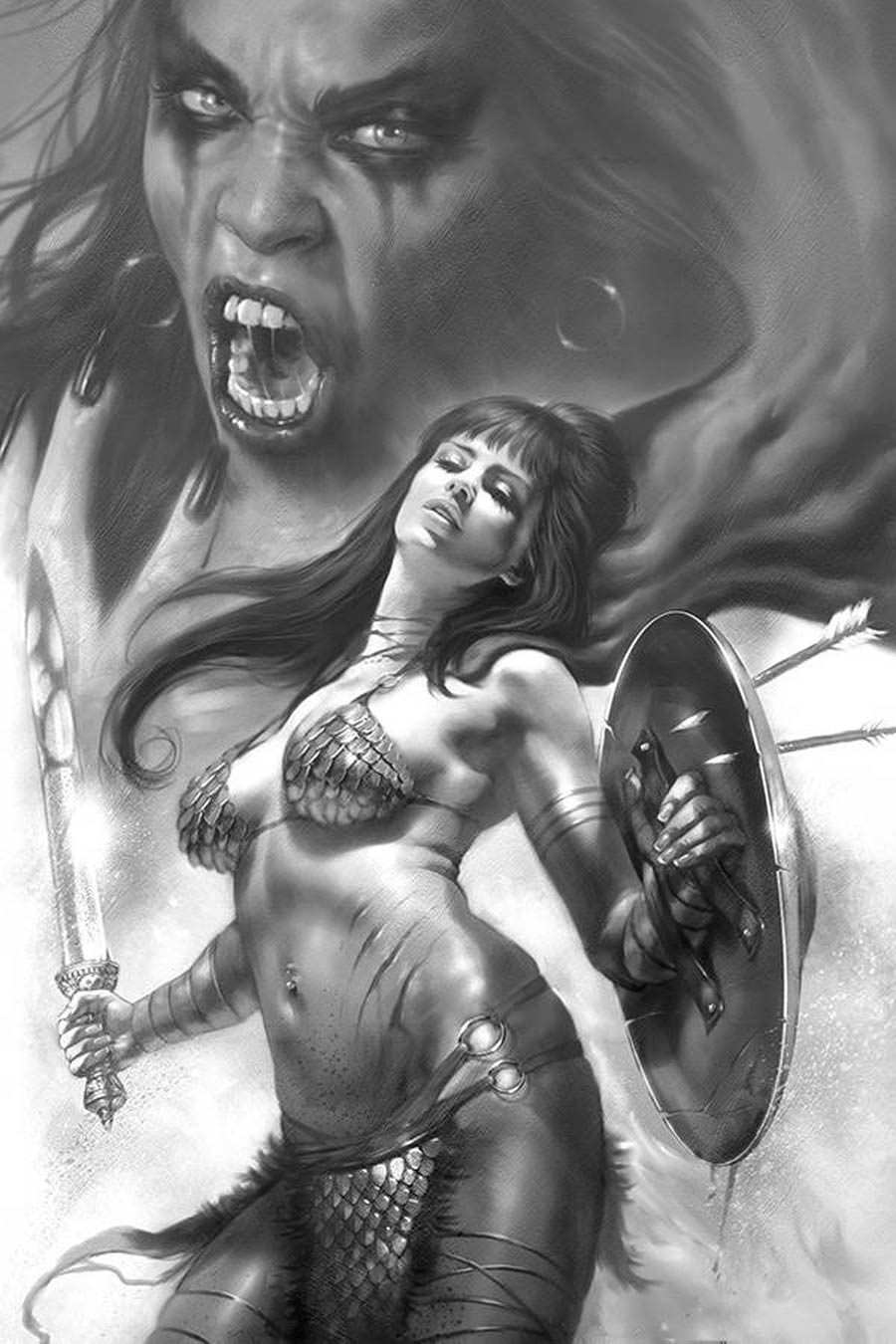 Red Sonja Age Of Chaos #5 Cover K Incentive Lucio Parrillo Black & White Virgin Cover