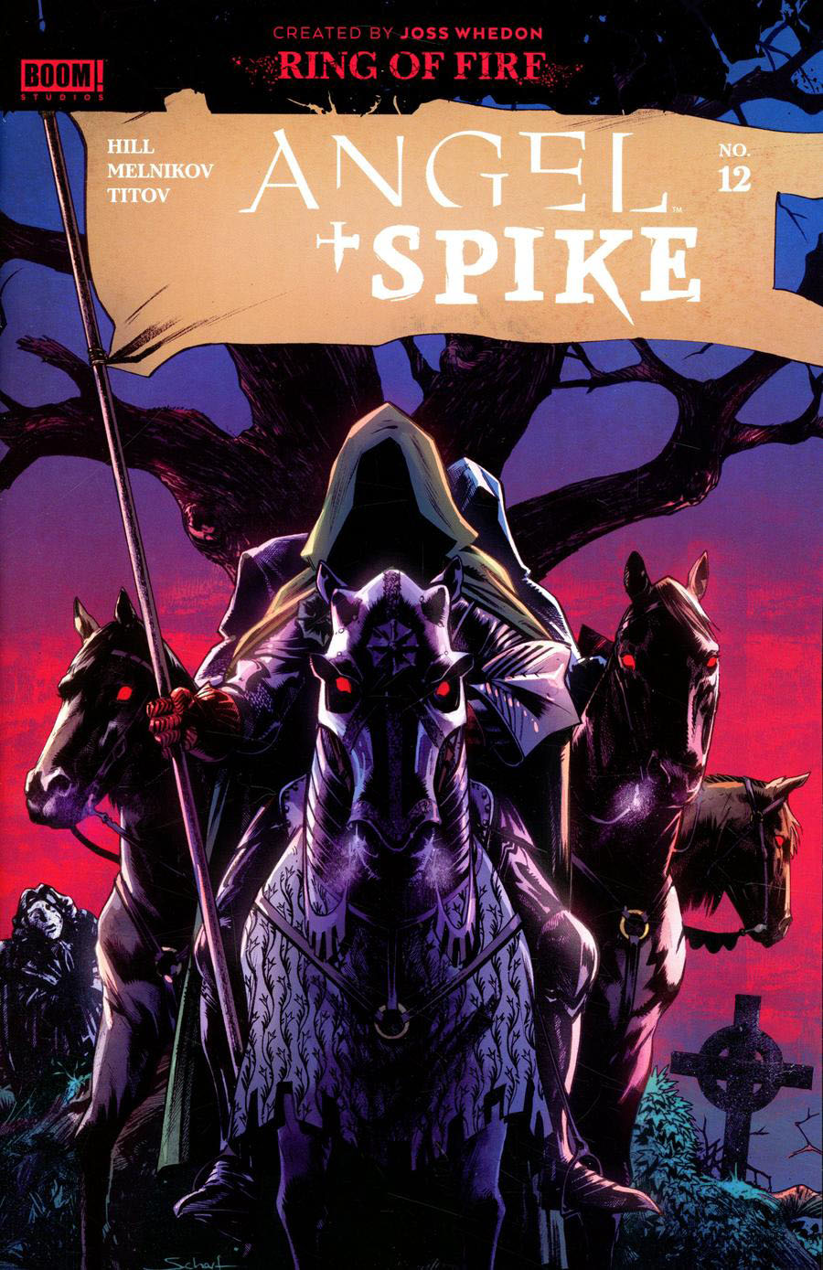 Angel & Spike #12 Cover D Incentive Jonas Scharf Variant Cover