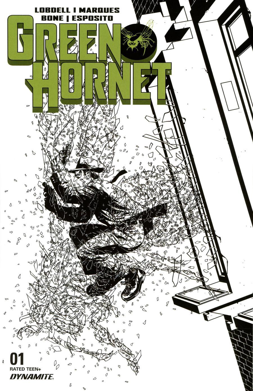 Green Hornet Vol 5 #1 Cover I Incentive Mike McKone Black & White Cover