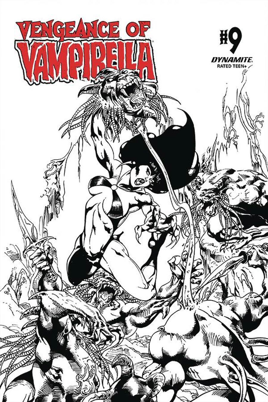Vengeance Of Vampirella Vol 2 #9 Cover G Incentive Roberto Castro Black & White Cover