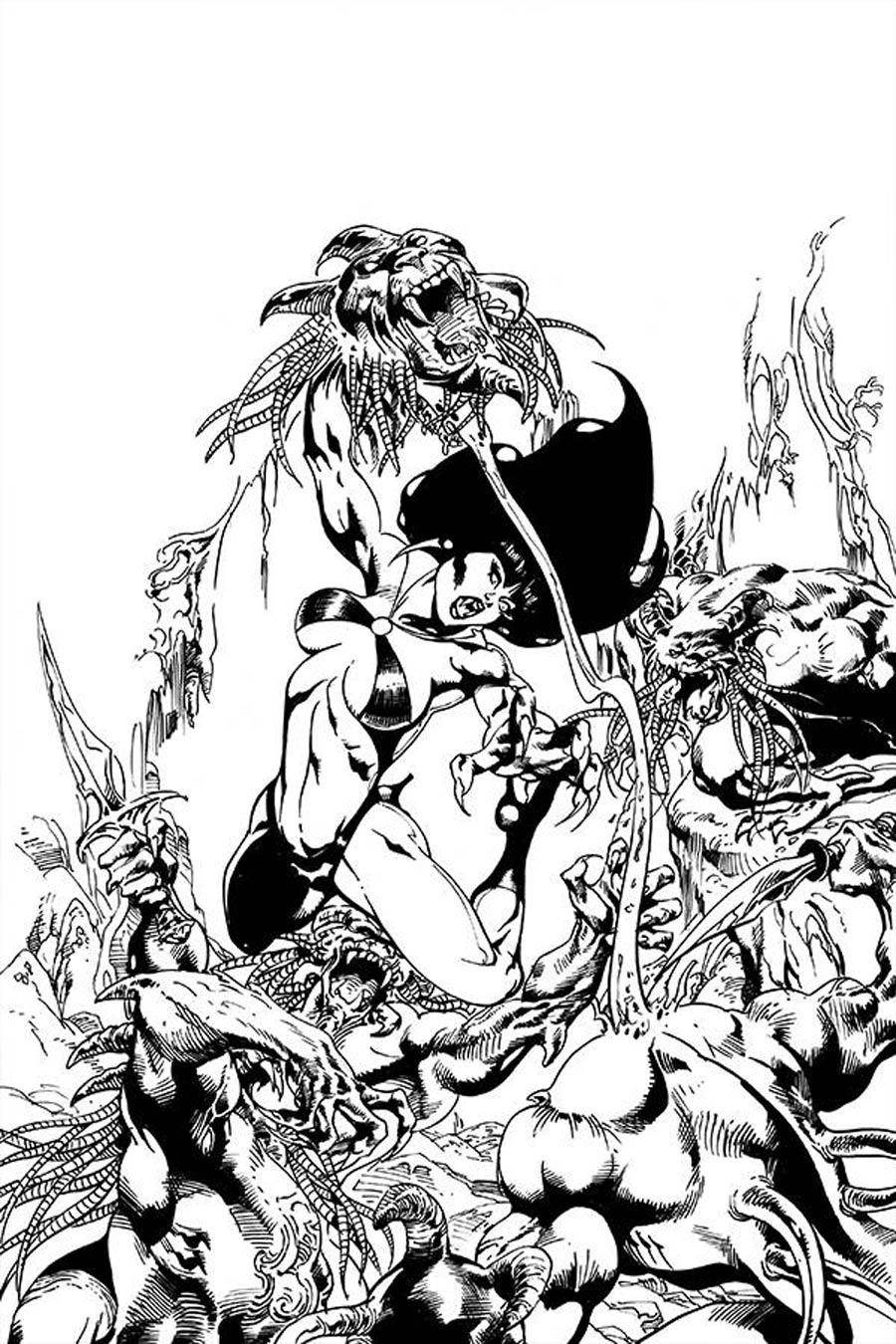 Vengeance Of Vampirella Vol 2 #9 Cover J Incentive Roberto Castro Black & White Virgin Cover