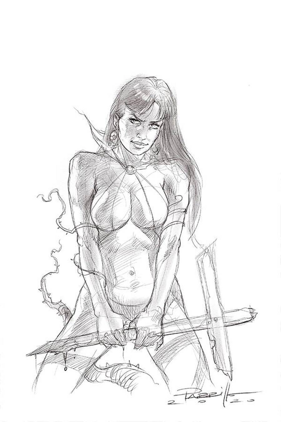 Vengeance Of Vampirella Vol 2 #9 Cover K Incentive Lucio Parrillo Black & White Virgin Cover