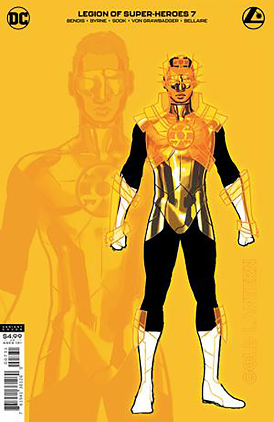 Legion Of Super-Heroes Vol 8 #7 Cover C Incentive Ryan Sook Gold Lantern Card Stock Variant Cover