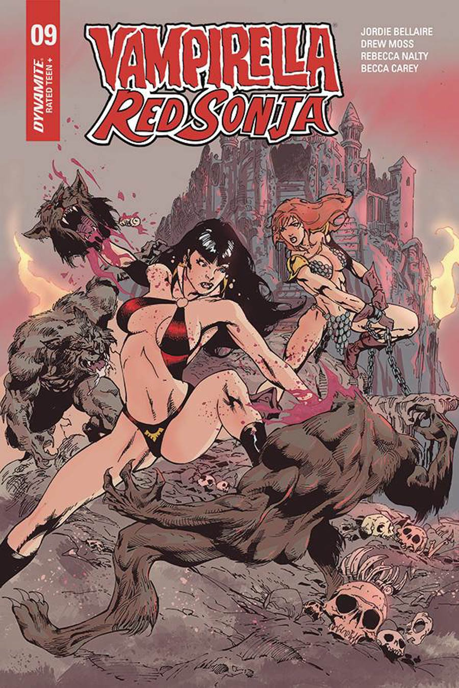 Vampirella Red Sonja #9 Cover F Variant Roberto Castro Cover