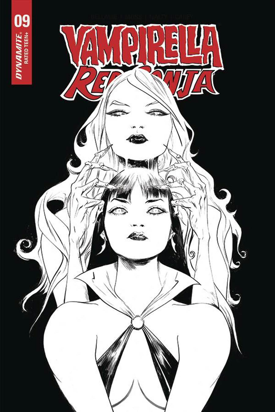 Vampirella Red Sonja #9 Cover N Incentive Jae Lee Black & White Cover