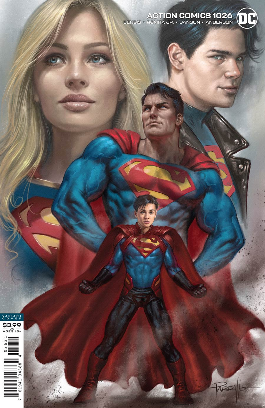 Action Comics Vol 2 #1026 Cover B Variant Lucio Parrillo Cover