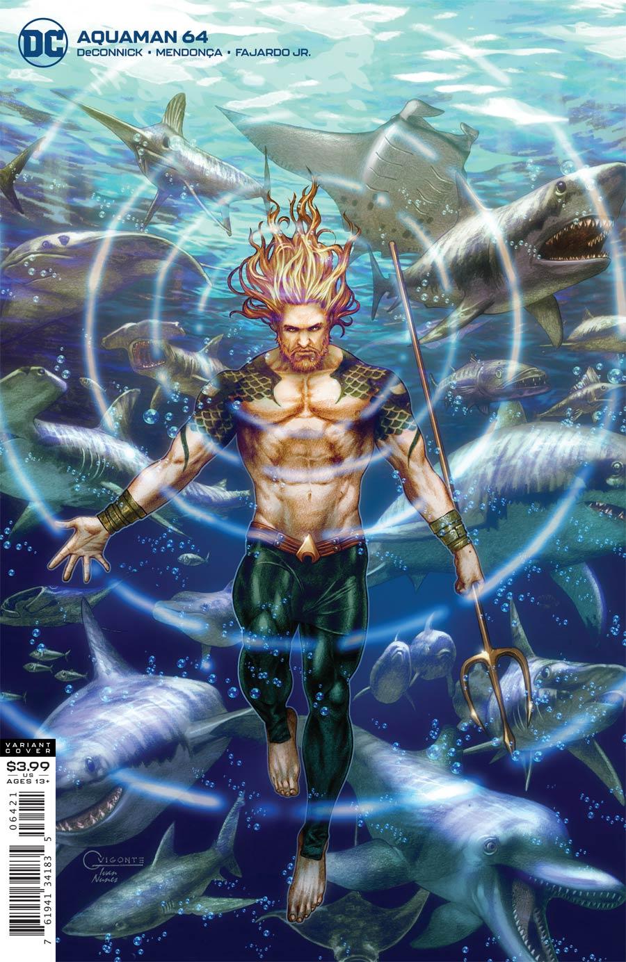 Aquaman Vol 6 #64 Cover B Variant Gilbert Vigonte Cover