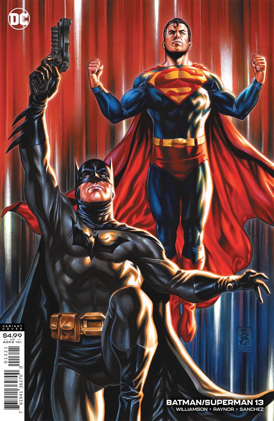 Batman Superman Vol 2 #13 Cover B Variant Mark Brooks Card Stock Cover