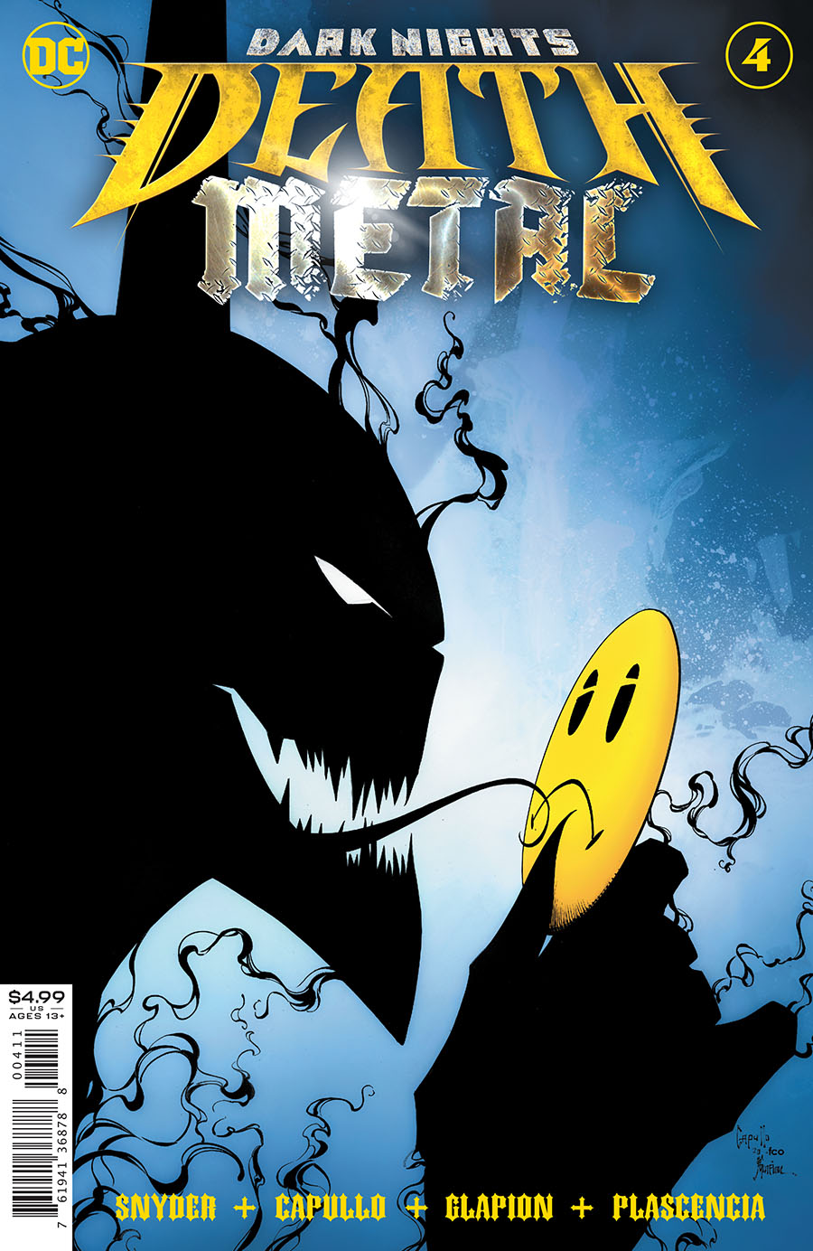 Dark Nights Death Metal #4 Cover A Regular Greg Capullo & Jonathan Glapion Foil Embossed Cover