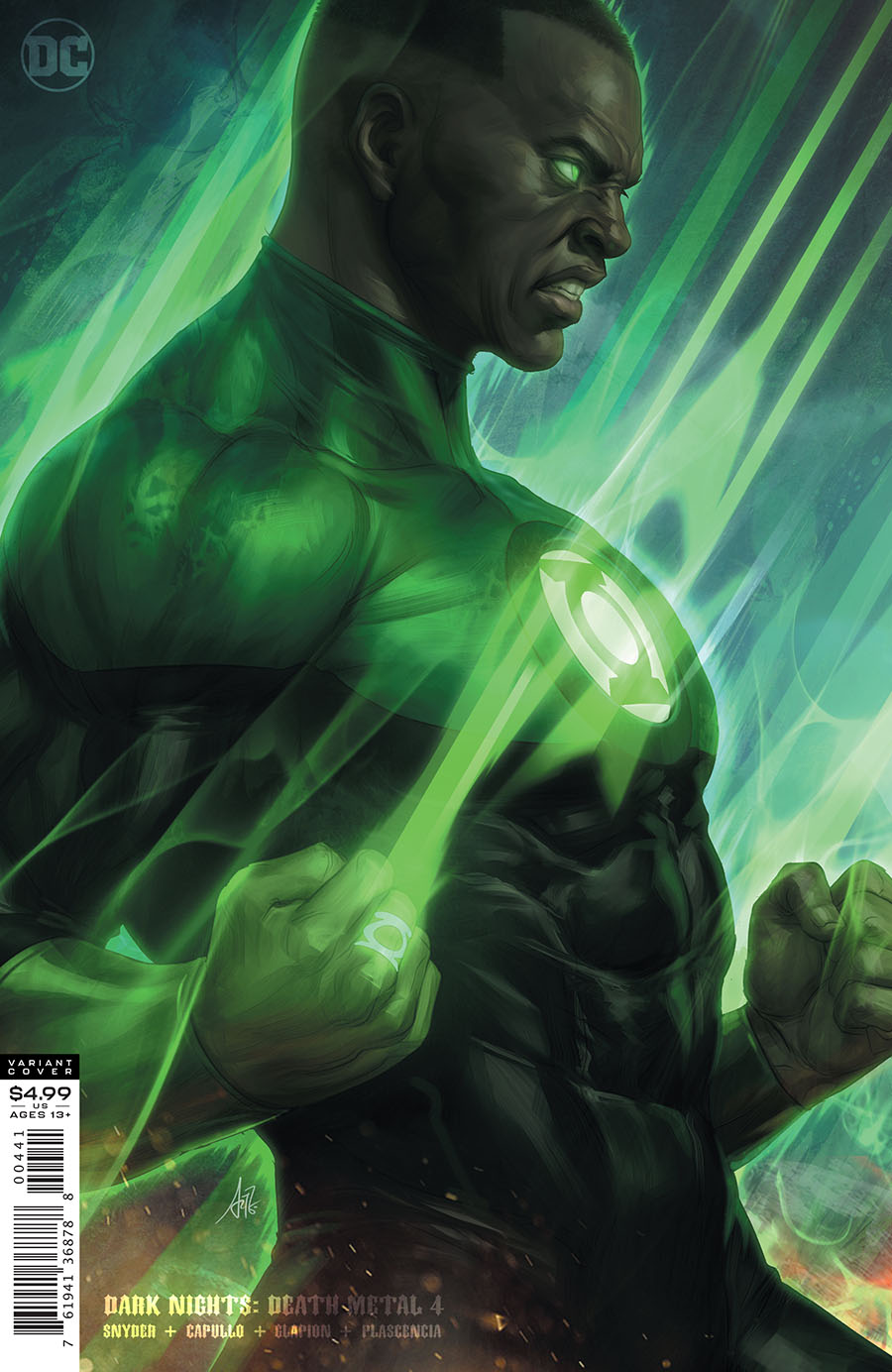 Dark Nights Death Metal #4 Cover D Variant Stanley Artgerm Lau Green Lantern John Stewart Cover