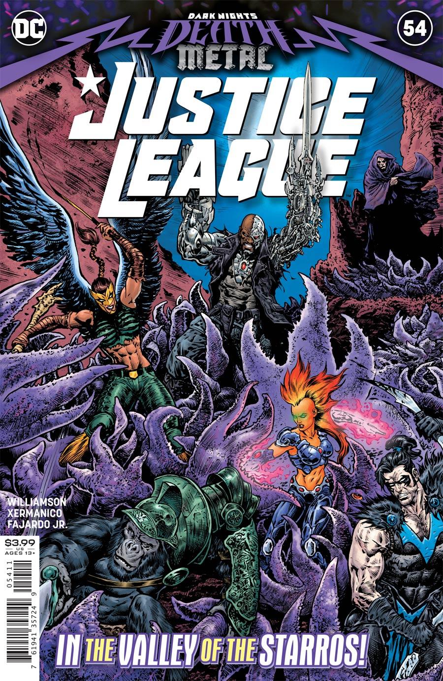Justice League Vol 4 #54 Cover A Regular Liam Sharp Cover (Dark Nights Death Metal Tie-In)