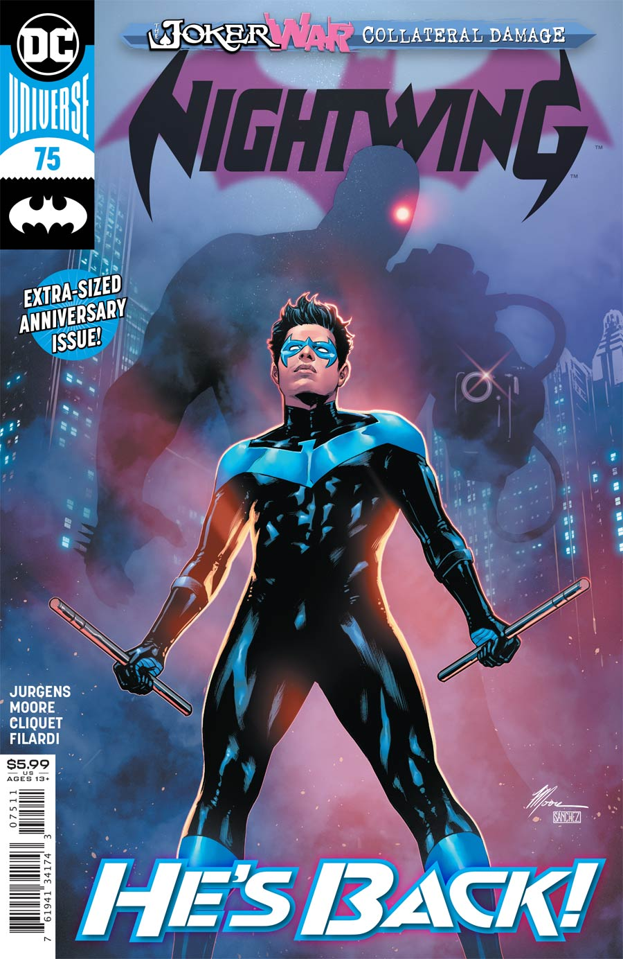 Nightwing Vol 4 #75 Cover A Regular Travis Moore Cover (Joker War Fallout Tie-In)