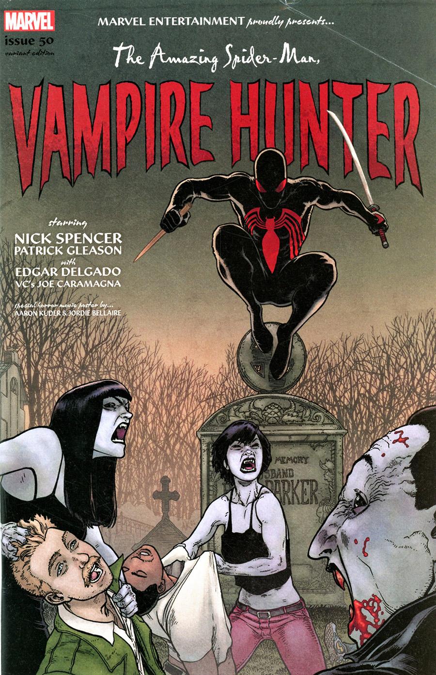 Amazing Spider-Man Vol 5 #50 Cover C Variant Aaron Kuder Spider-Man Vampire Hunter Horror Cover
