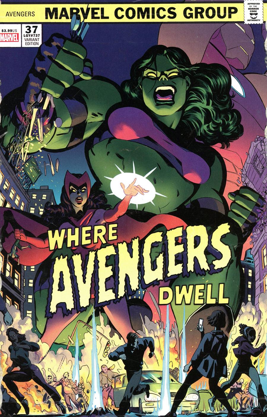 Avengers Vol 7 #37 Cover C Variant Javier Rodriguez Where Avengers Dwell Horror Cover