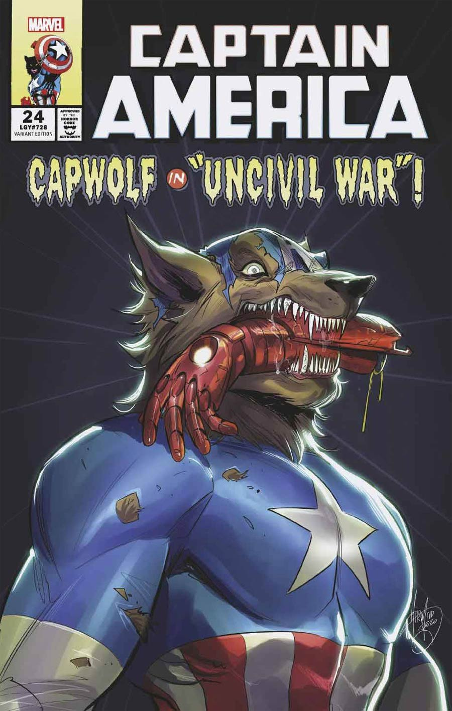 Captain America Vol 9 #24 Cover C Variant Mirka Andolfo Cap Wolf Horror Cover