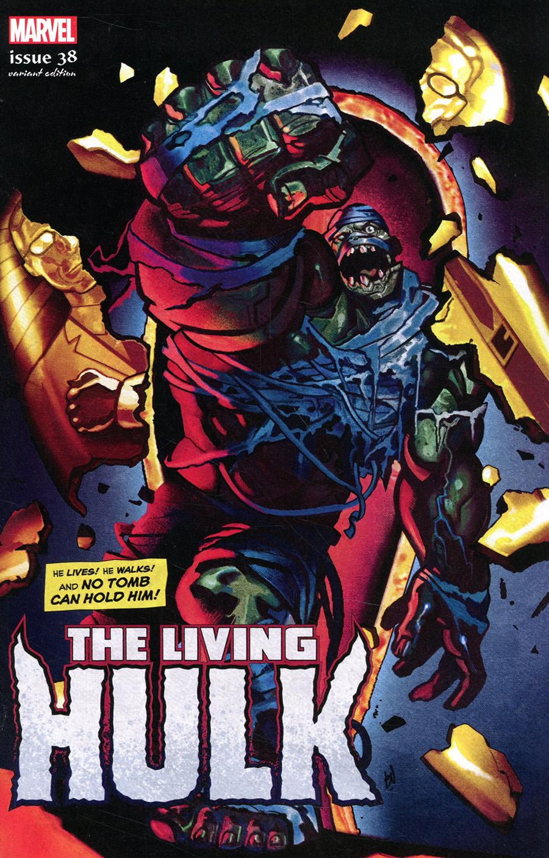 Immortal Hulk #38 Cover B Variant Mike Del Mundo Living Hulk Horror Cover