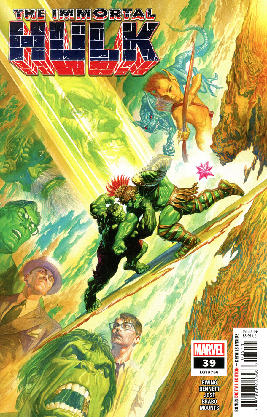 Immortal Hulk #39 Cover A Regular Alex Ross Cover