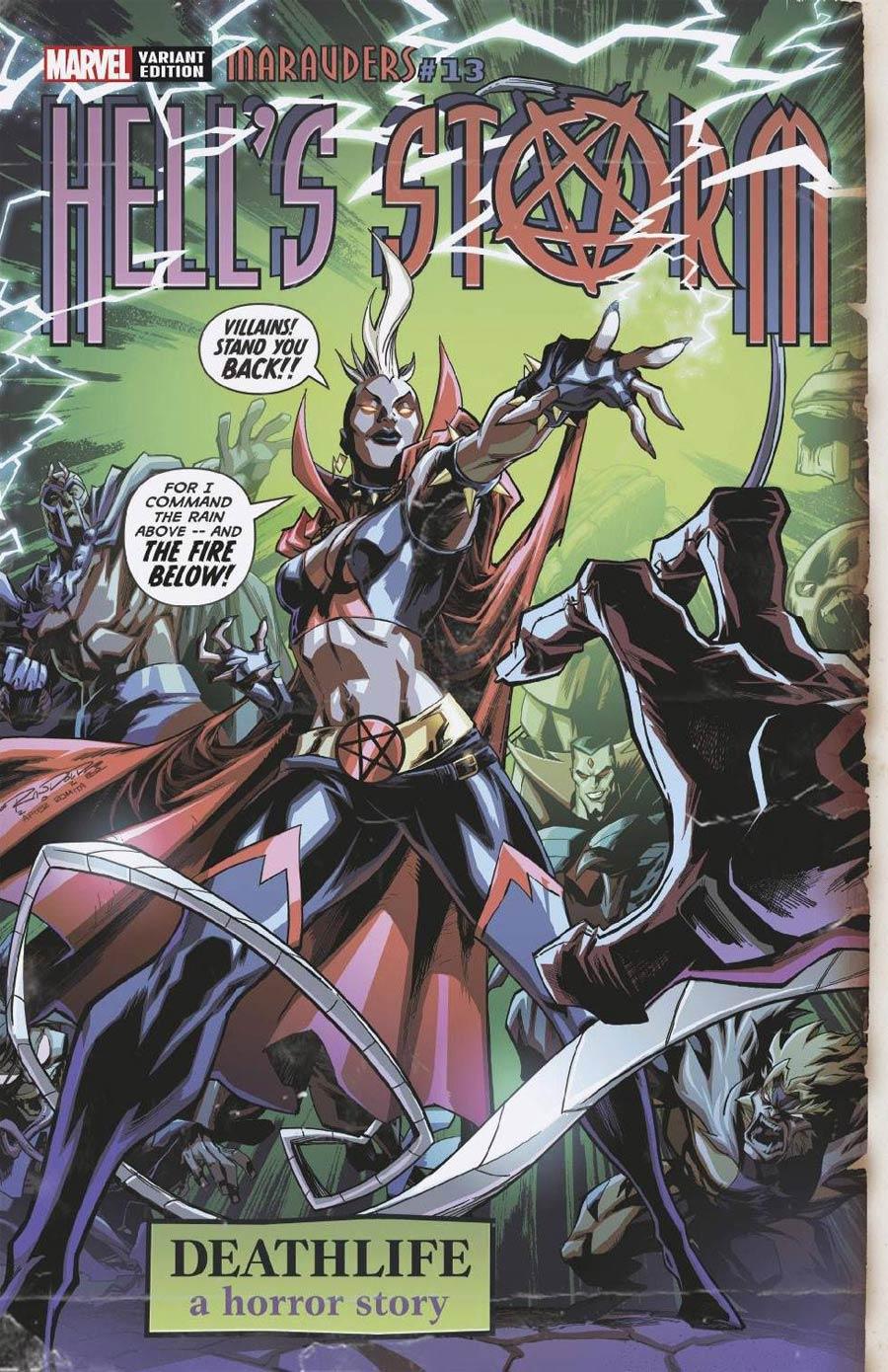 Marauders #13 Cover C Variant Khary Randolph Hells Storm Horror Cover (X Of Swords Part 5)