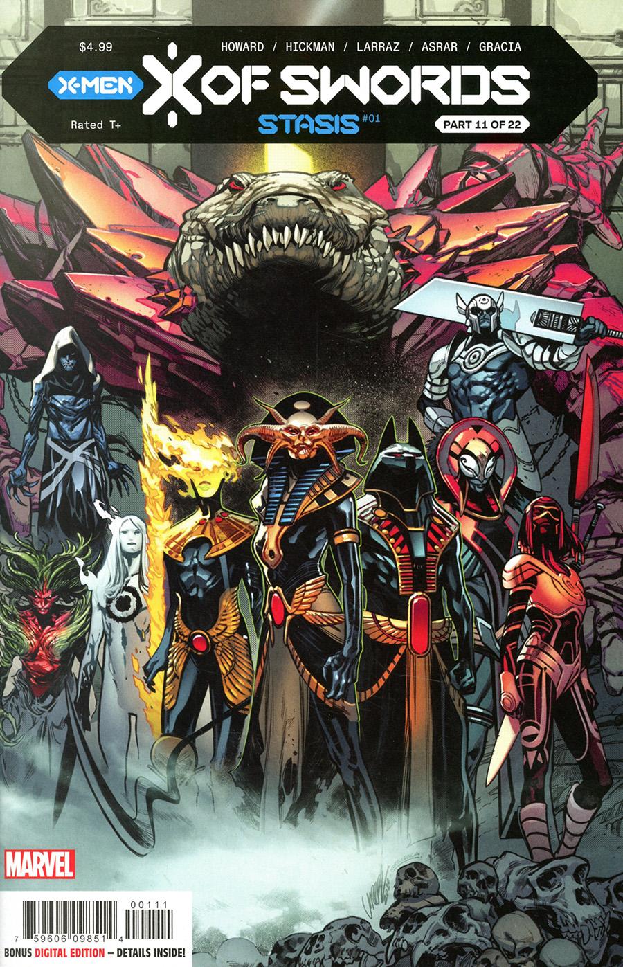 X Of Swords Stasis #1 Cover A Regular Pepe Larraz Cover (X Of Swords Part 11)
