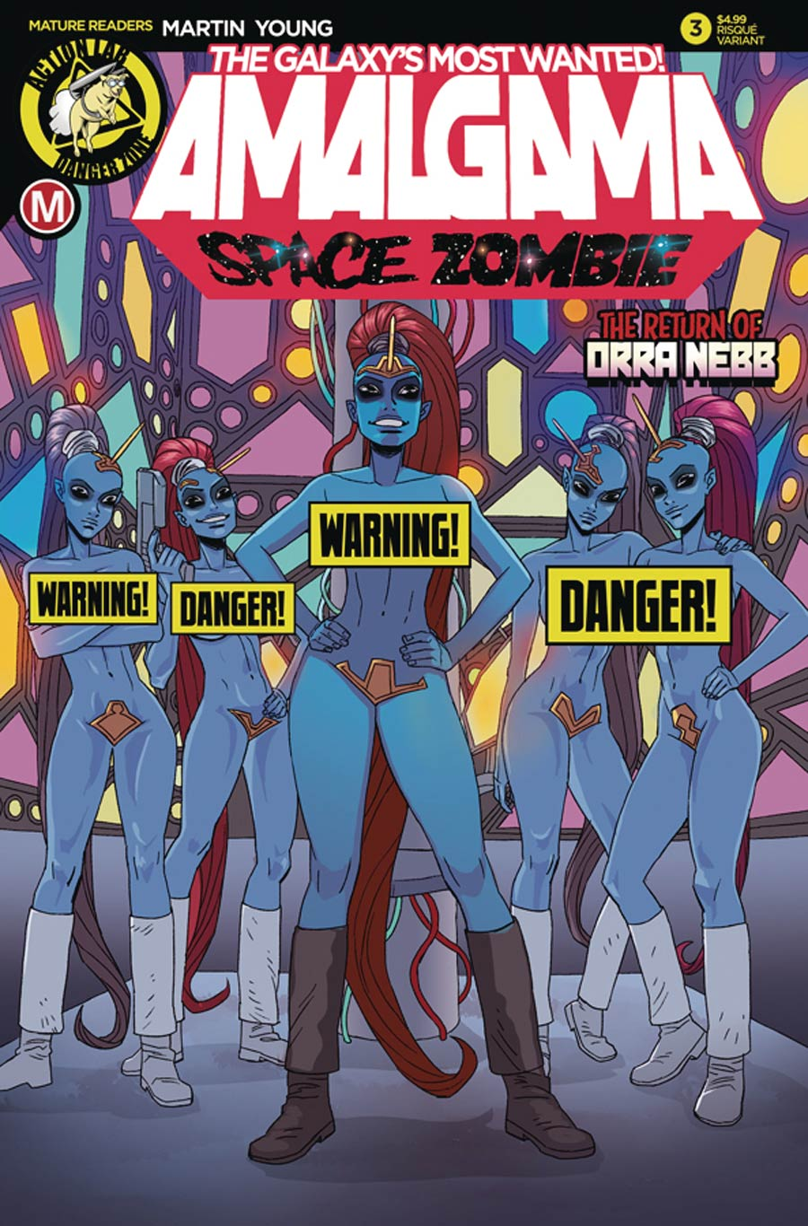 Amalgama Space Zombie Galaxys Most Wanted #3 Cover B Variant Winston Young Risque Cover