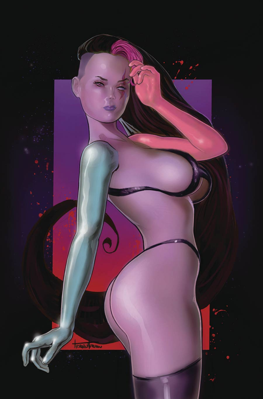Amalgama Space Zombie Galaxys Most Wanted #3 Cover E Variant Andrew Herman Cover