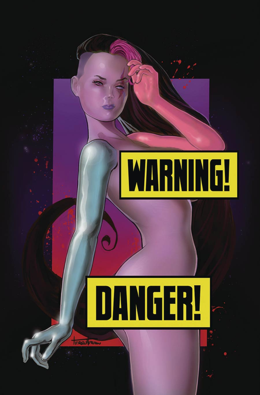 Amalgama Space Zombie Galaxys Most Wanted #3 Cover F Variant Andrew Herman Risque Cover