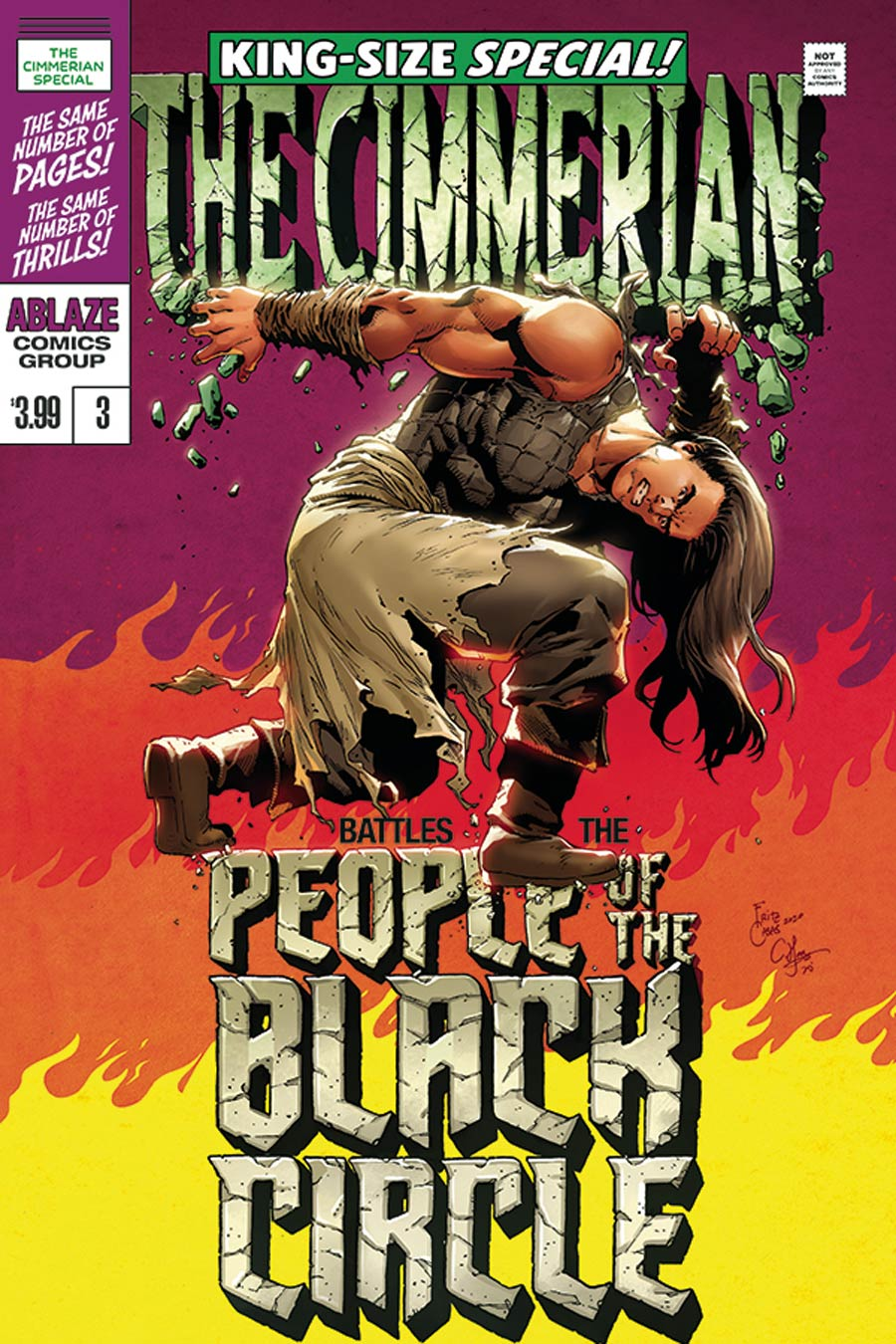 Cimmerian People Of The Black Circle #3 Cover D Variant Fritz Casas King Size Hulk Special Parody Cover