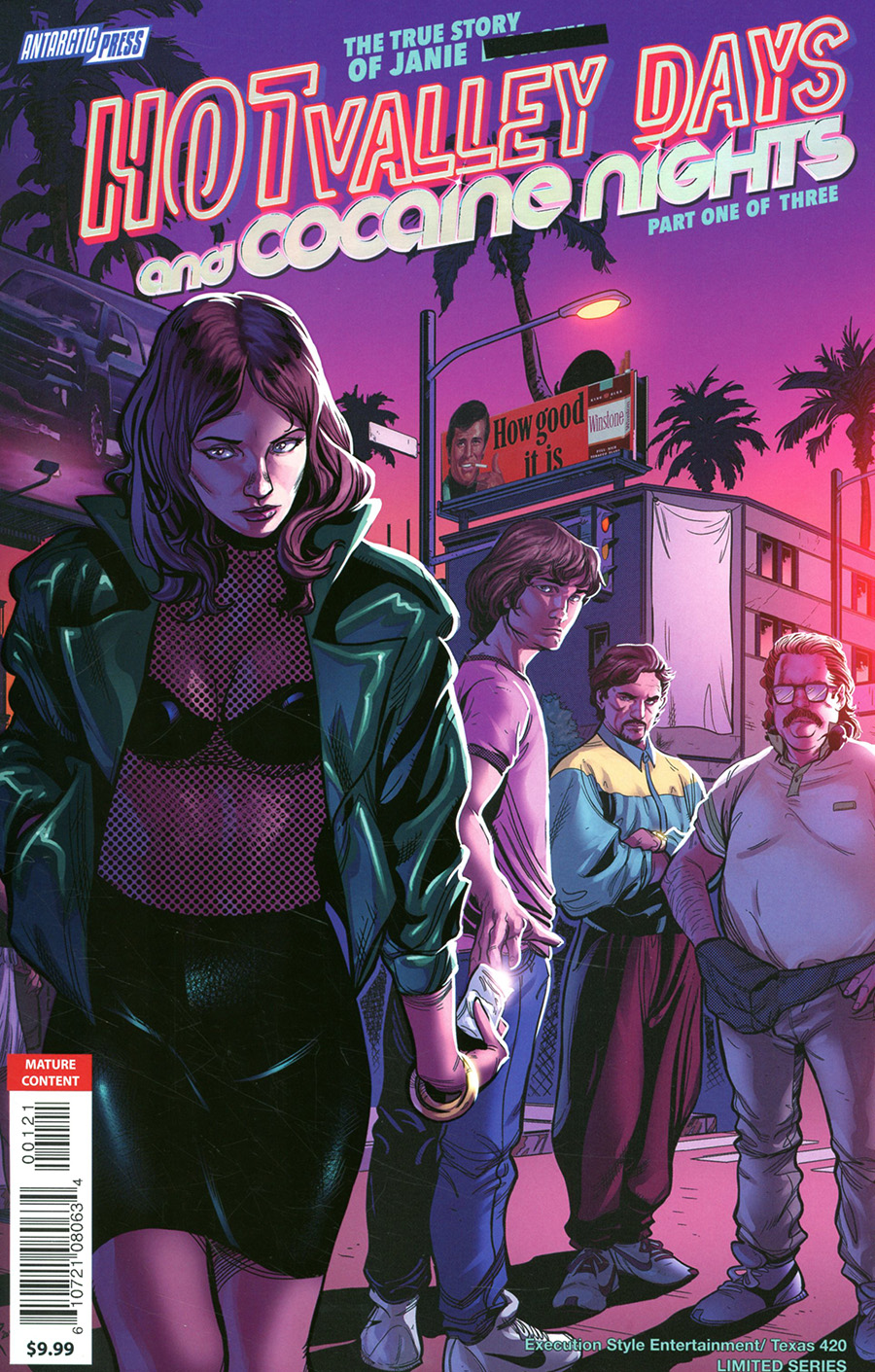 Hot Valley Days And Cocaine Nights #1 Cover B Variant Rainbow Delight Holo-Foil Cover