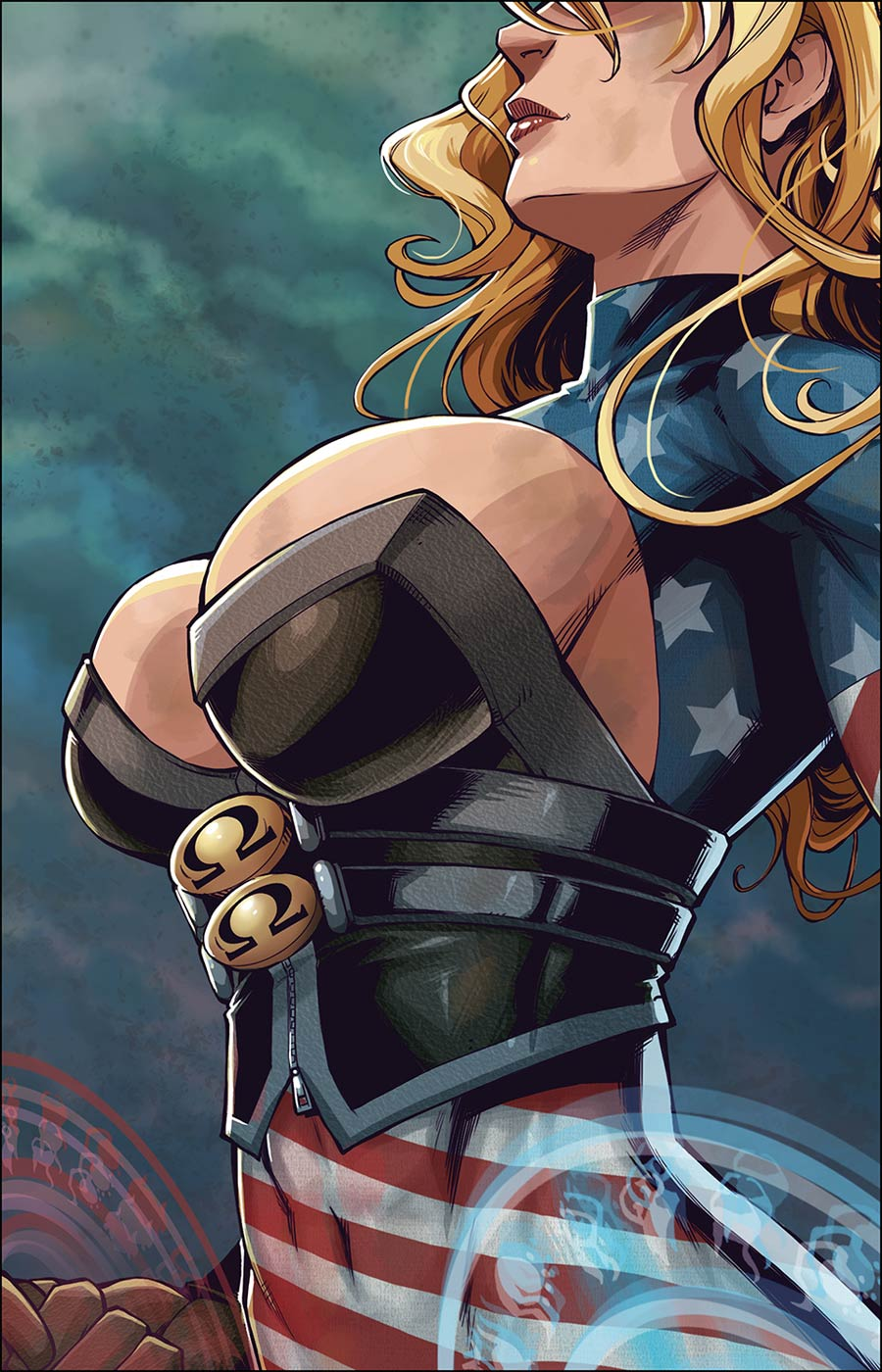 Patriotika #3 Cover B Variant Canaan White Cover